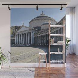 Napoli, Piazza del Plebiscito, Italy landmark, Naples photo, italian art, neoclassical architecture Wall Mural