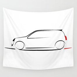 Clio silhouette Wall Tapestry