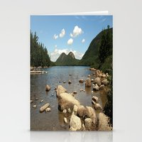 maine Stationery Cards featuring Maine by Raymond Earley