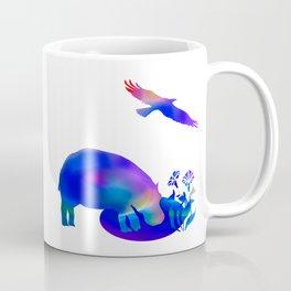 Hippo at the pond Coffee Mug