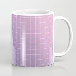 purple / pink - grid Coffee Mug