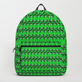 Guitars (Tiny Repeating Pattern on Green) Backpack