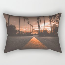 Road at Sunset Rectangular Pillow