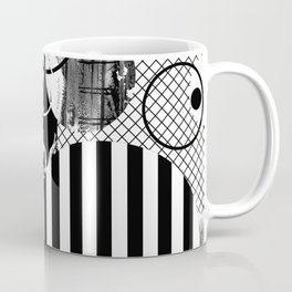 Black And White Choas - Mutli Patterned Multi Textured Abstract Coffee Mug