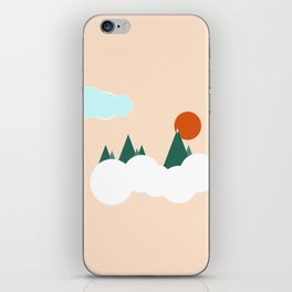 geo mountains iPhone Skin