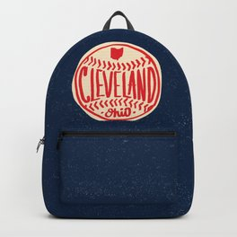 Hand Drawn Baseball for Cleveland Ohio with custom Lettering Backpack