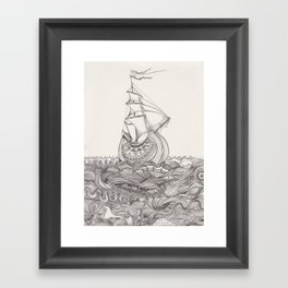 On the sea Framed Art Print