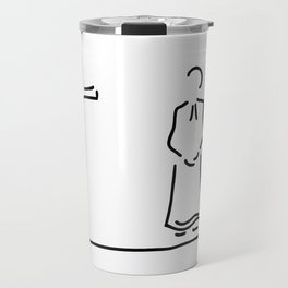 priest with cup in church Travel Mug