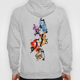 Typographic Number illustrations, watercolor,  3,4,5,7,9 by carographic Hoody