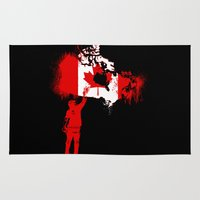 canada Area & Throw Rugs featuring Canada Tagger by Kris alan apparel