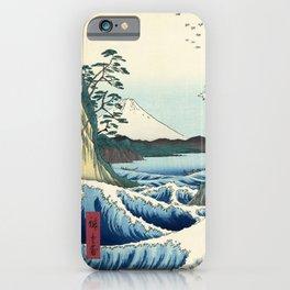 Utagawa Hiroshige - Seascape in Satta, 1858 iPhone Case