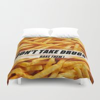 french fries Duvet Covers featuring French Fries by Ispas Sorin