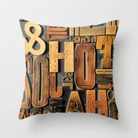 letters Throw Pillows featuring Letters by BONB