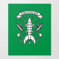 tintin Canvas Prints featuring Seal Of Calculus by M. Gulin