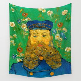 Vincent van Gogh - Portrait of the Postman Joseph Roulin (1888) Wall Tapestry