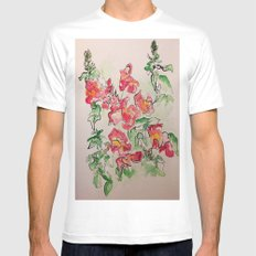 Blind Contour Snapdragon MEDIUM Mens Fitted Tee White