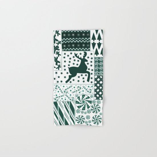 Christmas Green Quilt Hand & Bath Towel
