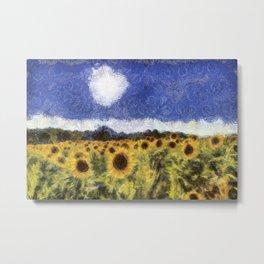 Sunflower Summers Van Gogh Metal Print