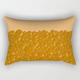 Orange Shade Bibble Background Rectangular Pillow