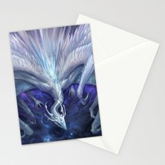 White Crystal Dragon Stationery Cards