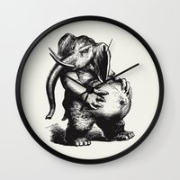 ganesha Wall Clocks featuring Ganesha by MAZUR