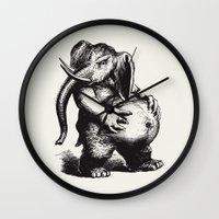 ganesha Wall Clocks featuring Ganesha by MAZUR