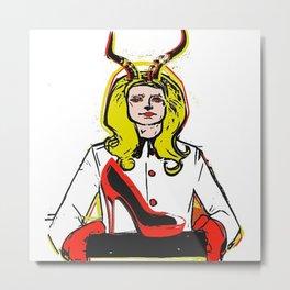 Devils horn VIII POP ART Metal Print