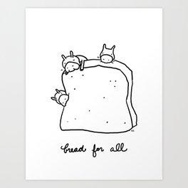 bread for all Art Print