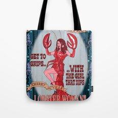 Lobster Girl Tote Bag