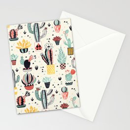 Cacti in a Flower Pot Stationery Cards
