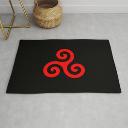 Triskele 12 -triskelion,triquètre,triscèle,spiral,celtic,Trisquelión,rotational Rug