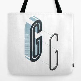 The Exploded Alphabet / G Tote Bag