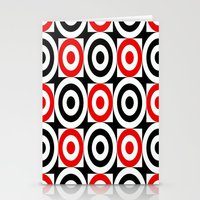 chicago bulls Stationery Cards featuring Bulls EYE by Sacred Symmetry