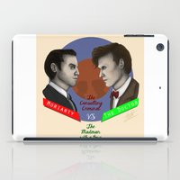 moriarty iPad Cases featuring Moriarty vs The Doctor by LiseRichardson