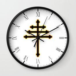 Maronite Christian Cross Wall Clock