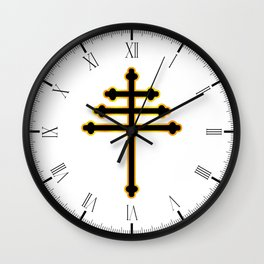 Maronite Christian Cross Wall Clock