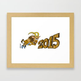 2015 Year of the Wooden Goat Framed Art Print
