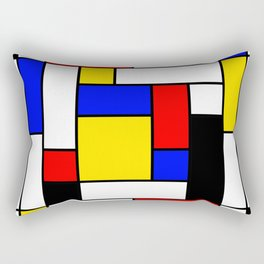 Mondrian Geometric Art 2 Rectangular Pillow