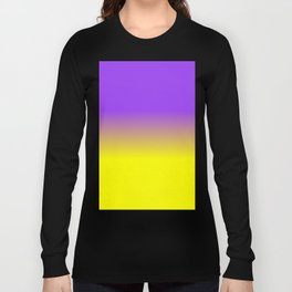 Neon Purple and Neon Yellow Ombré  Shade Color Fade Long Sleeve T-shirt