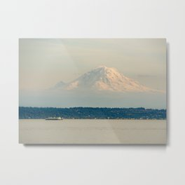 Mt. Rainier from the Ferry Metal Print
