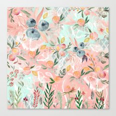 Abstract painting of flowers and plants Canvas Print
