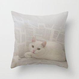 miau Throw Pillow
