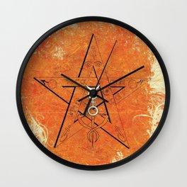 Occult, Symbolism, Star, Magic Wall Clock