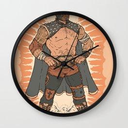 Lucha De Guadalupe Wall Clock