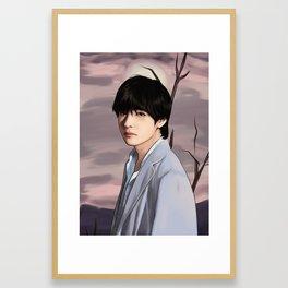 BTS V LOVE YOURSELF FANART Framed Art Print