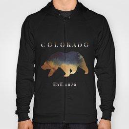 Watercolor Bear Colorado Established 1876 Hoody