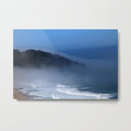 Lighthouse in the Fog Metal Print