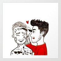 Ziam doodle 2 Art Print