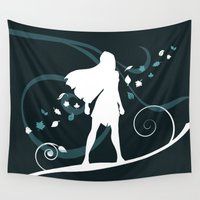 pocahontas Wall Tapestries featuring Colors of the Wind (Pocahontas) by Maira Artwork