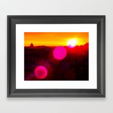 Sunset over Rome Framed Art Print